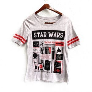 Star Wars Gray Graphic Ringer T-Shirt Youth XL